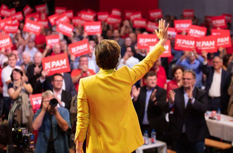 SPÖ-GewerkschafterInenn kämpfen Seite an Seite mit Pamela Rendi-Wagner