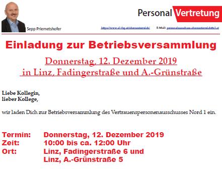 Betriebsversammlung der A1 Telekom Austria AG in OÖ