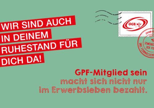 Bleibe auch du Gewerkschaftsmitglied und genieße weiterhin die zahlreichen Vorteile als GPF-Mitglied